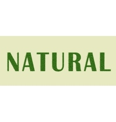 Ecology nature design Natural vector image