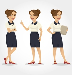 Female character hispanic business woman vector