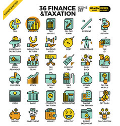 Finance and taxation vector