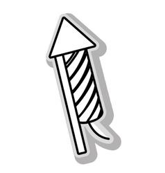 Fireworks rocket celebration vector image