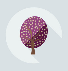 flat modern design with shadow icon coffee tree vector image
