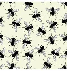flies seamless tile vector image