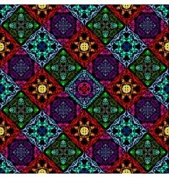 Fluorescent mushroom seamless tapestry vector image