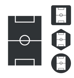 Football field icon set monochrome vector