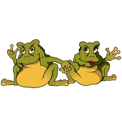 Frog Couple vector