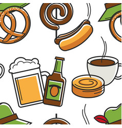 german traditional meals and drinks cuisine vector image