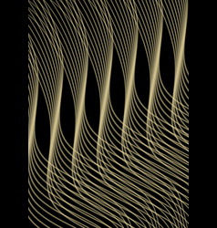 Golden waves of black background abstract vector