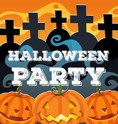 Halloween theme with jack-o-lantern vector