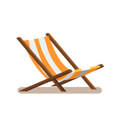 Hammock-chair with stripes vector