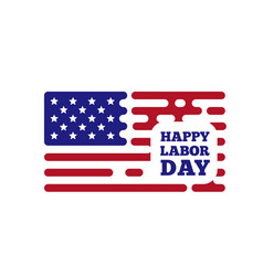 happy labor day with rouded vector image