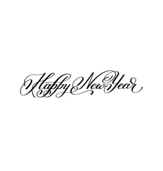 Happy New Year hand lettering congratulate vector image