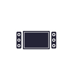 home theater system icon vector image