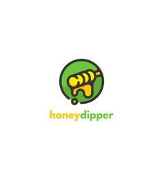Honey dipper logo icon design concept for the vector