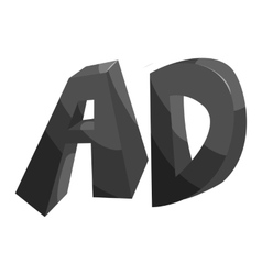 Initial letters ad icon black monochrome style vector image