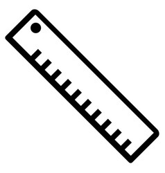 Length ruler flat icon vector