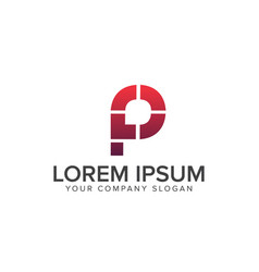 letter p logo modern logo design concept template vector image