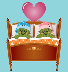 Loving couple of cactus dreaming about love vector