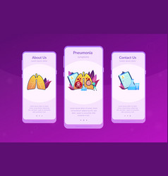 Lower respiratory infections app interface vector