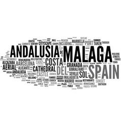Malaga word cloud concept vector