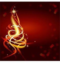 modern abstract christmas tree vector image