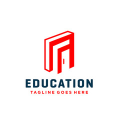 Modern logo design for education vector
