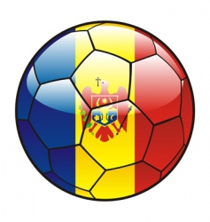 moldova flag on soccer ball vector image