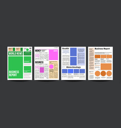 newspaper realistic pages template news vector image