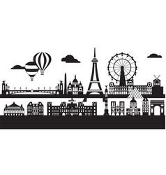 Paris city skyline 5 vector
