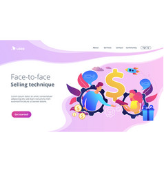 Personalized selling concept landing page vector