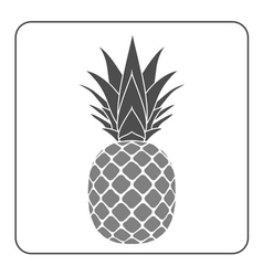 Pineapple with leaf icon gray vector image