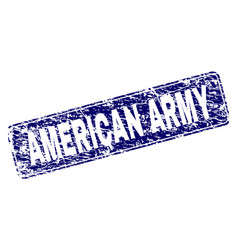 Scratched american army framed rounded rectangle vector
