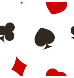 seamless pattern with playing cards symbols vector image