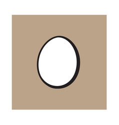 Single whole hard boiled peeled unshelled vector