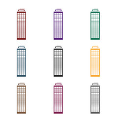 skyscraper icon in black style isolated on white vector image