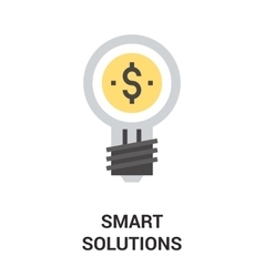 smart solution icon concept vector image