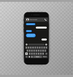 social network concept blank template messenger vector image