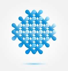 Soft blue business sybmol - perfect for consulting vector