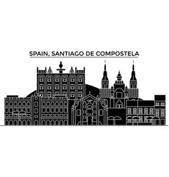 spain santiago de compostela architecture vector image