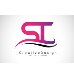 St s t letter logo design creative icon modern vector