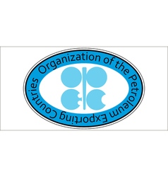 sticker oil organization OPEC vector image