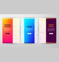 Summer brochure web design vector