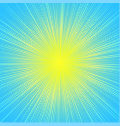 sun burst blast background yellow on blue vector image