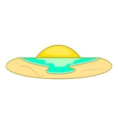 Sunset icon flat style vector image