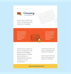 template layout for secure credit card comany vector image