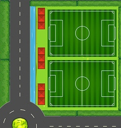 Top view of football fields vector