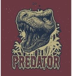 Trex Dinosaur background vector image