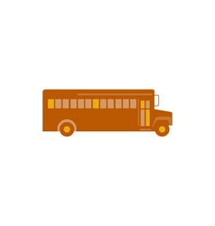 Vintage School Bus Side Retro vector image