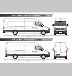 Volkswagen crafter delivery van l4h2l3h2 2011 vector