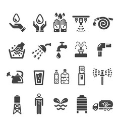 water with human icon vector image