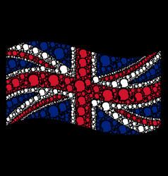 waving british flag pattern of smoking detective vector image